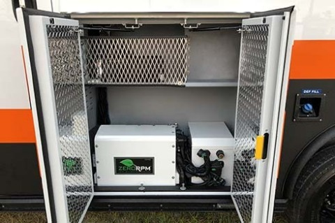 ZeroRPM is a hands-free Idle Mitigation System (IMS) for your ambulance, enabling it to function the same when parked whether the engine is running or not. It is designed to virtually eliminate costly, and harmful, vehicle idling. (Photo: Business Wire)