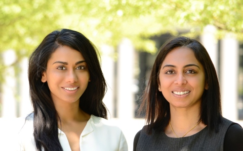 Esya Labs was co-founded by Dhivya Venkat, CEO, (image left), and Dr. Yamuna Krishnan, Chief Scientific Officer, (image right). (Photo: Business Wire)