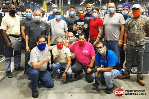 From left to right: CGI team members inside the Hialeah facility, including: First row - Asdruval Garcia, Amado Valle, Carlos Pita, Francisco Conesa and Walter Rubio; second row - Gabriel Herreno, Jorge Molier, Yankiel Benitez, Oscar Hernandez, Jesus Fleitas and Rajiv Maragh; third row - Duperval Rene, Isidro Games, Hector Hernandez, Rene Inda, Hector Soler, Dyan Montanel and Ithiel La Guardia (Photo: Business Wire)