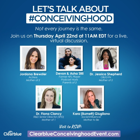 Clearblue #Conceivinghood event information (Graphic: Business Wire)