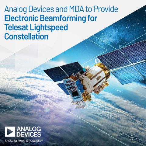 Analog Devices and MDA Collaborate to Provide Electronic Beam Forming Technology for the Telesat Lightspeed Constellation, Enhancing Global Connectivity (Graphic: Business Wire)