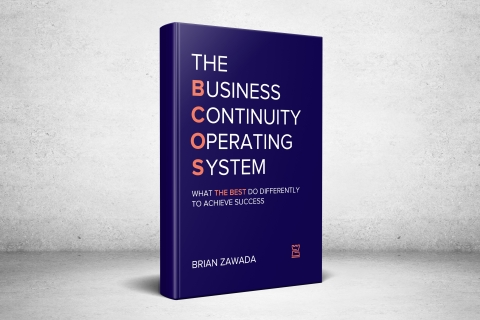 Castellan's COO Brian Zawada announces the release of his debut book, The Business Continuity Operating System (BCOS). Throughout the book, Zawada explores how to strengthen the seven core elements that differentiate a high-performing business continuity program from an under-performing one. (Photo: Business Wire)