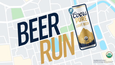 Molson Coors Launches First Organic Beer, Coors Pure, With Nationwide Beer Run (Graphic: Business Wire)