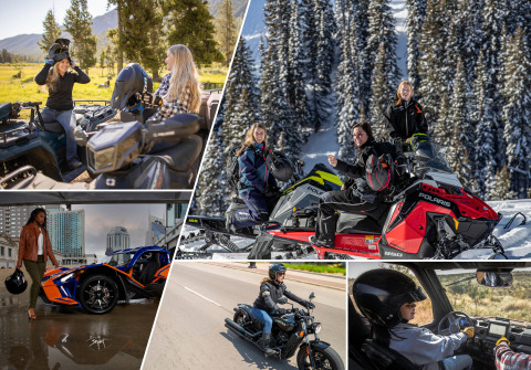 Polaris is once again partnering with International Female Ride Day to celebrate and accelerate the participation of women in powersports. (Photo: Business Wire)