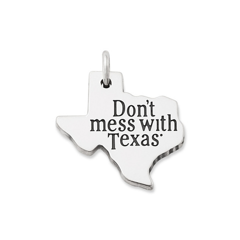 Beginning on April 6, 2021, a limited-edition James Avery Artisan Jewelry charm featuring the instantly recognizable Don't mess with Texas logo will be available for sale at the artisan jeweler's 100 plus retail locations, online at JamesAvery.com and in select Dillard's stores in Texas. (Photo: Business Wire)