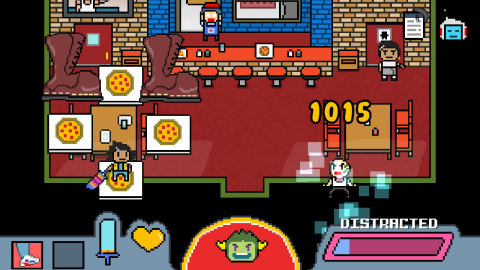 Face down your inner demons amid a bustling city, a dimension-hopping storyline and entertaining tactical battles against bullies who will stop at nothing to take your pizza in DON'T GIVE UP: A Cynical Tale. (Graphic: Business Wire)
