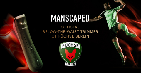 MANSCAPED announces its first official German sports partnership with professional handball club Füchse Berlin. (Graphic: Business Wire)