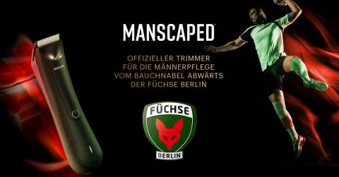 MANSCAPED gibt seine erste offizielle deutsche Sportpartnerschaft mit dem Profi-Handballverein Füchse Berlin bekannt. (Graphic: Business Wire)