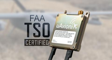 ping200X成为全球首款通过TSO认证的无人机应答器。(图示:美国商业资讯)