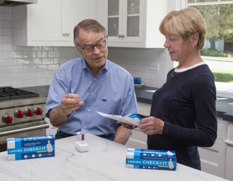 The LUCIRA CHECK IT™ test kit provides PCR quality, COVID-19 results in 30 minutes or less in the comfort of home. (Photo: Business Wire)