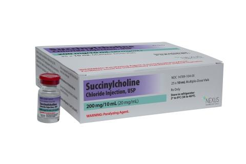 Nexus Pharmaceuticals Succinylcholine Chloride Injection, USP (Photo: Business Wire)