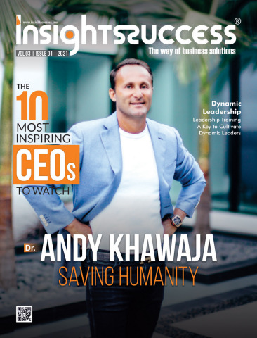 "Dr. Andy Khawaja of Artificial Intelligence Defense Platform is ""Saving Humanity"" as one of Insights Success' Top 10 Most Inspiring CEOs. (Photo: Business Wire)"