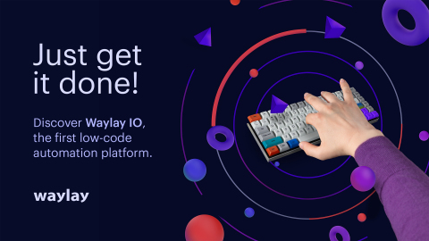 Waylay IO, the first low-code developer-friendly data automation and orchestration platform. (Photo: Waylay)