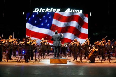 The Fort Worth Symphony Orchestra will host a special, socially distanced America Strong concert at Dickies Arena in Fort Worth on July 4, 2021. (Photo: Business Wire)