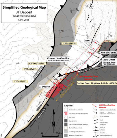 Figure 2 - Johnson Tract 2020 Drill Hole Plan Map with 2021 Targets (Photo: Business Wire)