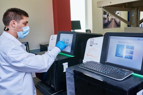 IBX NextSeq used for COVIDSeq strain determination. (Photo: Business Wire)