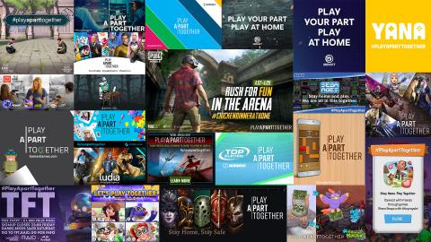 ゲーム業界が#PlayApartTogetherキャンペーンを1年目の節目で振り返り、決意を新たに(画像:ビジネスワイヤ)