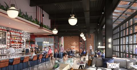 A rendering of Talk Shop at Caption by Hyatt Memphis (Credit: HBG Design)