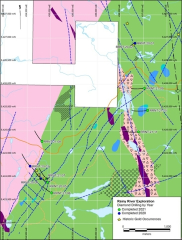 Figure 7: North East Trend area drill holes location on geological map (Graphic: Business Wire)