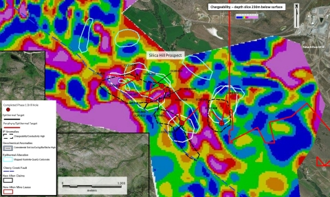 Figure 3: Phase 1 drill holes location on Silica Hill Prospect area. (Graphic: Business Wire)