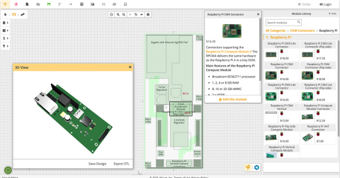 The Upverter modular, web-based tool offers easy drag and drop PCB design, schematics, automated routing, preview, and manufacturing to your exact specifications. (Graphic: Altium LLC)