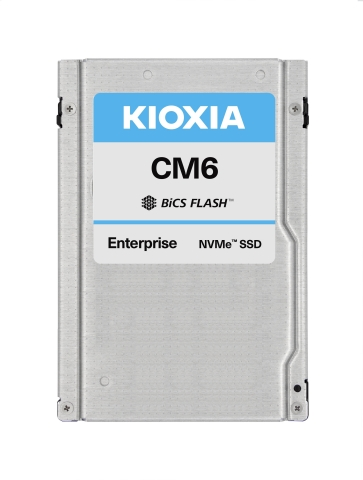 Dual-ported for high-availability, KIOXIA's CM6 Series of SSDs are PCIe 4.0 and NVMe 1.4-compliant and feature a 2.5-inch 15mm Z-height (U.2) form factor. (Photo: Business Wire)