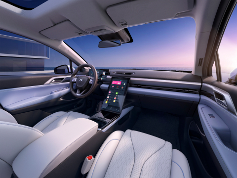 XPeng P5 interior (Photo: Business Wire)