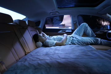 XPeng P5 sleep mode (Photo: Business Wire)