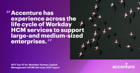 Accenture has experience across the life cycle of workday HCM services to support large-and medium-sized enterprises. (Graphic: Business Wire)
