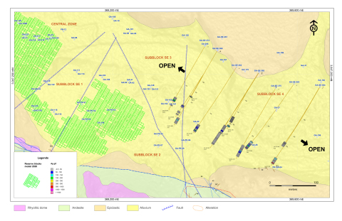 SE Zone Drill Hole Map (Graphic: Business Wire)