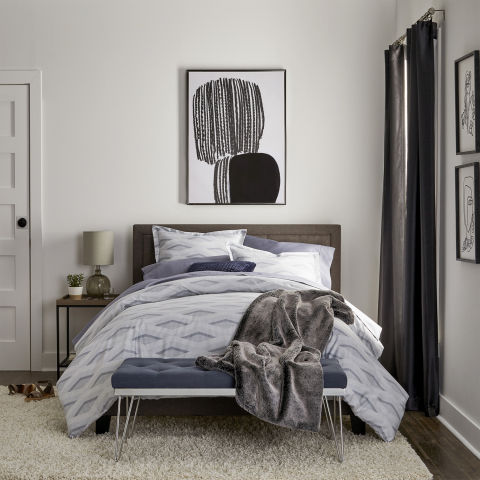 Loom + Forge™ bedding offers five comforter sets with coordinating pillow shams (Euro shams sold separately). The brand also offers two coverlets (shams sold separately) and two sheets sets with thread counts ranging from 400 to 625. (Photo: Business Wire)