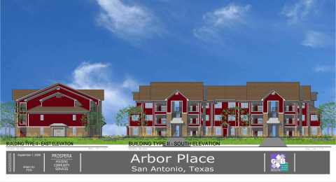 The San Antonio development, which received an AHP subsidy from Wells Fargo and FHLB Dallas, includes demolition of one apartment complex and rehabilitation of another to create an affordable housing complex to be called The Arbors at West Avenue. (Photo: Business Wire)