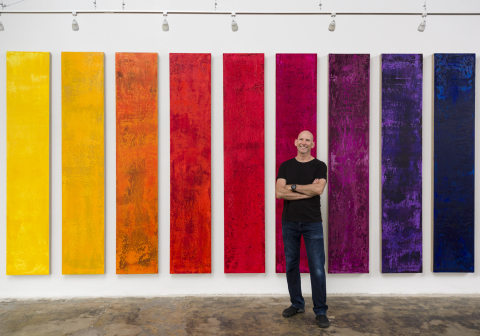 Fine Artist Douglas Teiger presents his Spectrum at TAG Gallery in Los Angeles. (Photo Credit: Douglas Teiger)