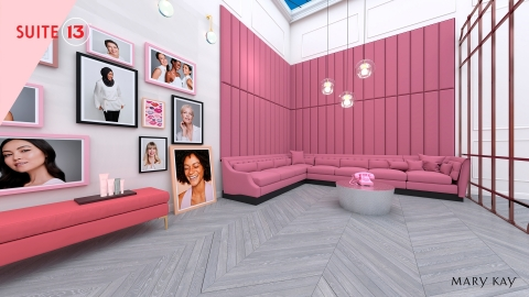 For the design of Suite 13™, Mary Kay partnered with Obsess, a leading experiential e-commerce platform. (Photo: Mary Kay Inc.)