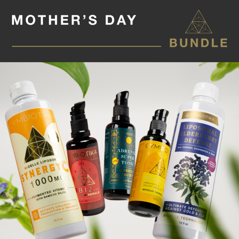 Cymbiotika's most popular products for women's health—Elderberry, D3+K2+CoQ10, B12, Vitamin C, Adrenal Super Tonic— just in time for Mother's Day gift giving. (Photo: Business Wire)