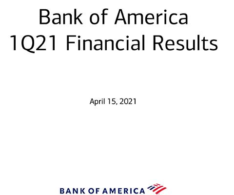 Q1-21 Bank of America Investor Relations Presentation