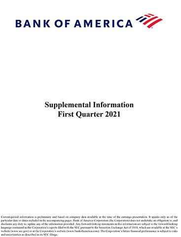 Q1-21 Bank of America Supplemental Information