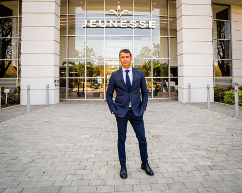 Ilhan Dogan, who recently joined Jeunesse through an acquisition of his company Verway, visits the Jeunesse World Headquarters in Lake Mary FL. (Photo: Business Wire)