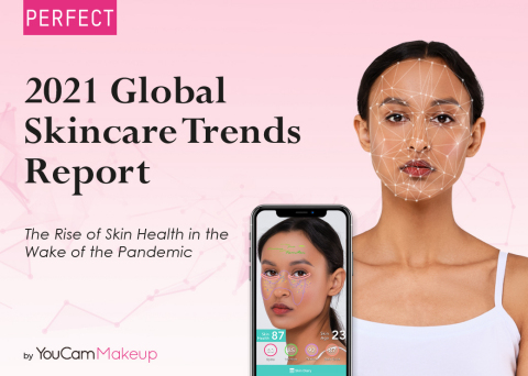 Perfect Corp.'s YouCam Makeup app releases the latest 2021 Q2 Global Beauty Trends Report (Graphic: Business Wire)