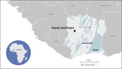 Figure 1. Séguéla Gold Project (Graphic: Business Wire)