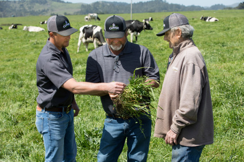 Implementing regenerative farming at Clover Sonoma's Perucchi Dairy Farm will jumpstart soil biology, which is expected to transform 810 tons of atmospheric carbon into healthy soil carbon over the coming years. (Photo: Business Wire)