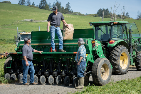 Clover Sonoma's Perucchi Dairy Farm received a grant from Zero Foodprint to fund a regenerative farming project that will pay for range planting and 350 tons of compost application across 25 acres. (Photo: Business Wire)