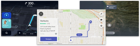 Customized versions of Mapbox Dash. (Graphic: Business Wire)