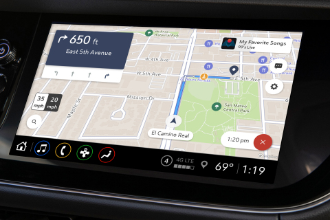 GM's Maps+ application built on Mapbox Dash. (Graphic: Business Wire)