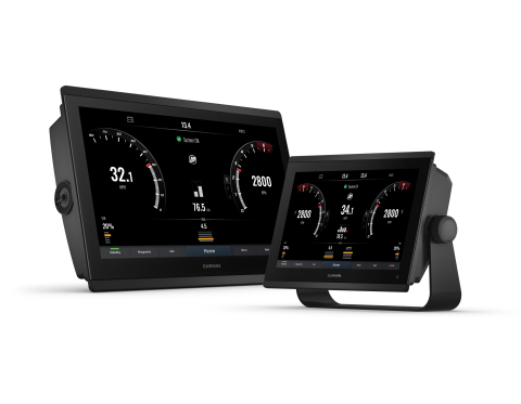 Garmin has added support for Mercury Marine VesselView engine data across select ECHOMAP Ultra, ECHOMAP UHD and GPSMAP series multi-function (MFDs), giving boaters vital engine performance data directly on their Garmin display. (Photo: Business Wire)