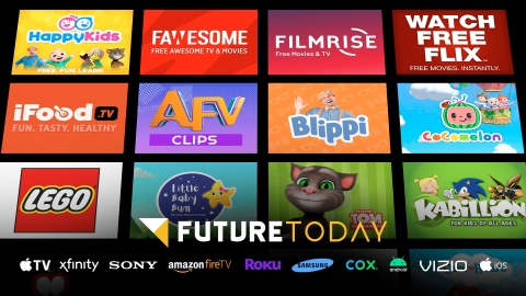 Reaching over 100 million households, Future Today announces milestone growth and updates to Channels-as-a-Service technology stack. (Graphic: Business Wire)