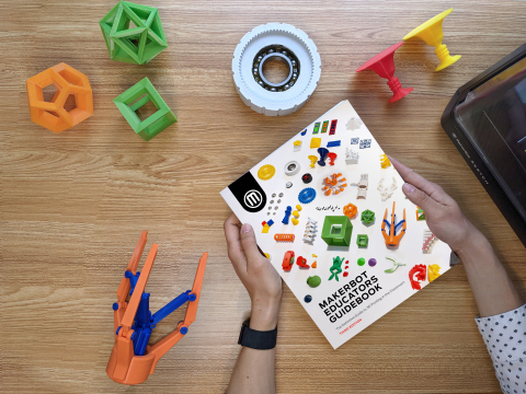 MakerBot Educators Guidebook, the definitive guide to 3D printing in the classroom (Photo: Business Wire)