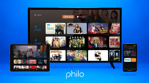 Philo Adds Popular Streaming Networks Crackle, Bloomberg and Revry to Platform (Graphic: Business Wire)