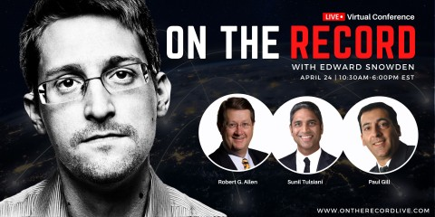 A. Paul Gill Joins Edward Snowden, Robert Allen and Sunil Tulsiani for ON THE RECORD - a virtual conference for business leaders (Graphic: Business Wire)