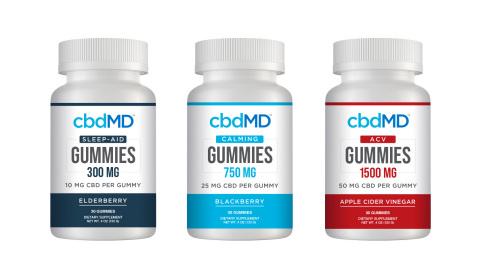 cbdMD's new Gummies will include: cbdMD Sleep Gummies, cbdMD Calming Gummies and cbdMD Apple Cider Vinegar Gummies. (Photo: Business Wire)